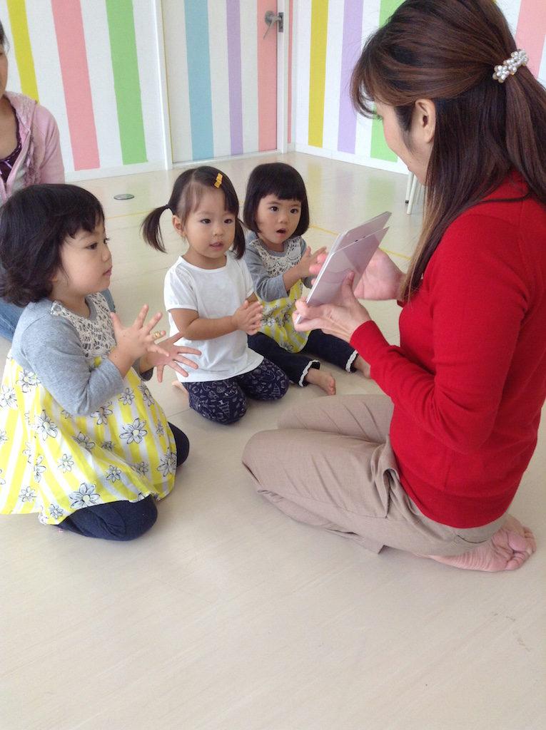 2歳児リズム練習