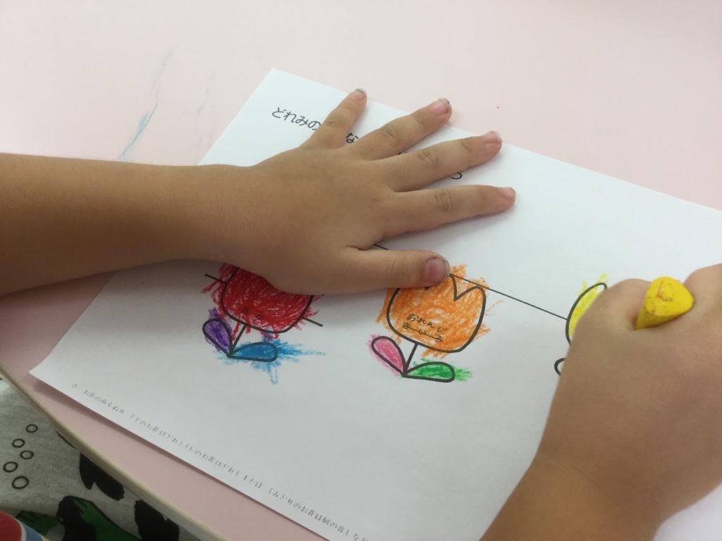 4歳児音符色ぬり